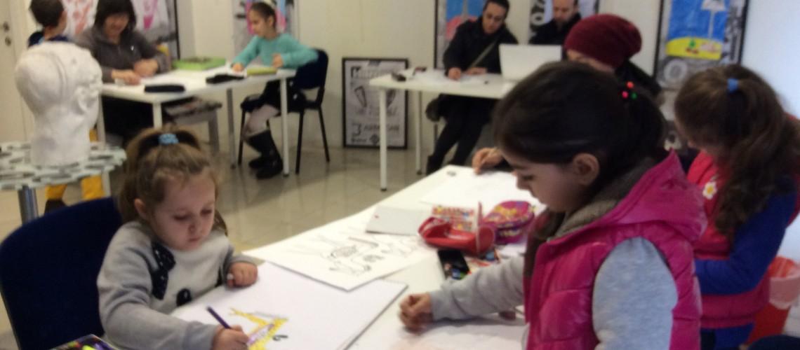 Çocuk Hobi Resim – Velilerle Resim Çalışması Yapıldı